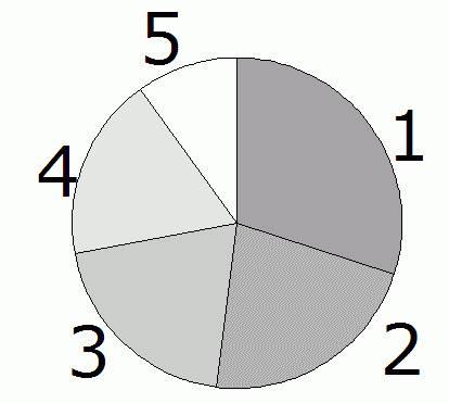 比率が分かりづらい円グラフの例