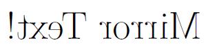 TeXのgraphicx パッケージの reflectboxを使って文字を反転させた例