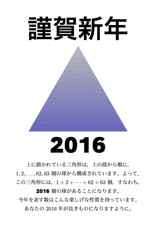 LaTeX + TikZ によって作られた年賀状