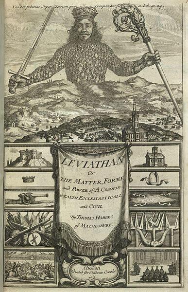 『リヴァイアサン』の初版(1651年)の表紙。