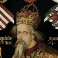 アルブレヒト・デューラーによる皇帝ジギスムントの肖像画。この絵はジギスムントの死後に描かれたものである。