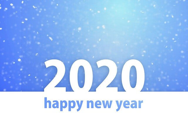 2020年が良い年となりますように。