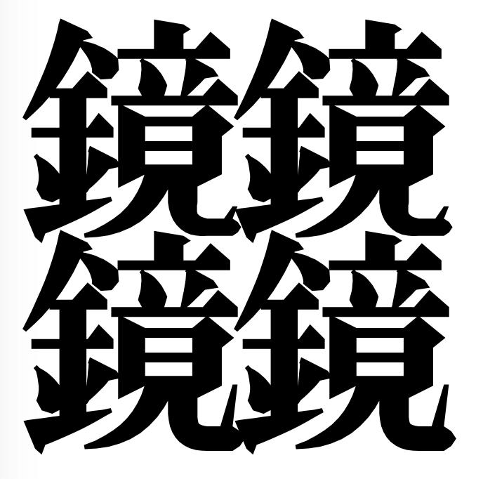宮沢賢治の詩に出てくる「鏡」を4つ組み合わせた字