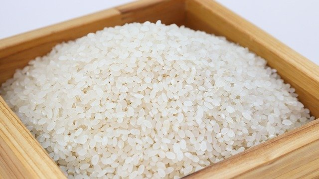 米。洗われているか洗われていないか。